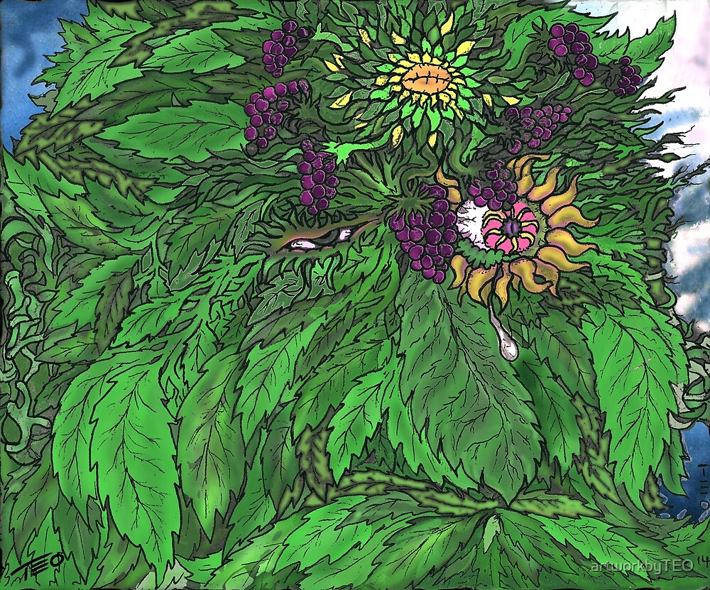 Green Man Grieves by artworkbyTEO