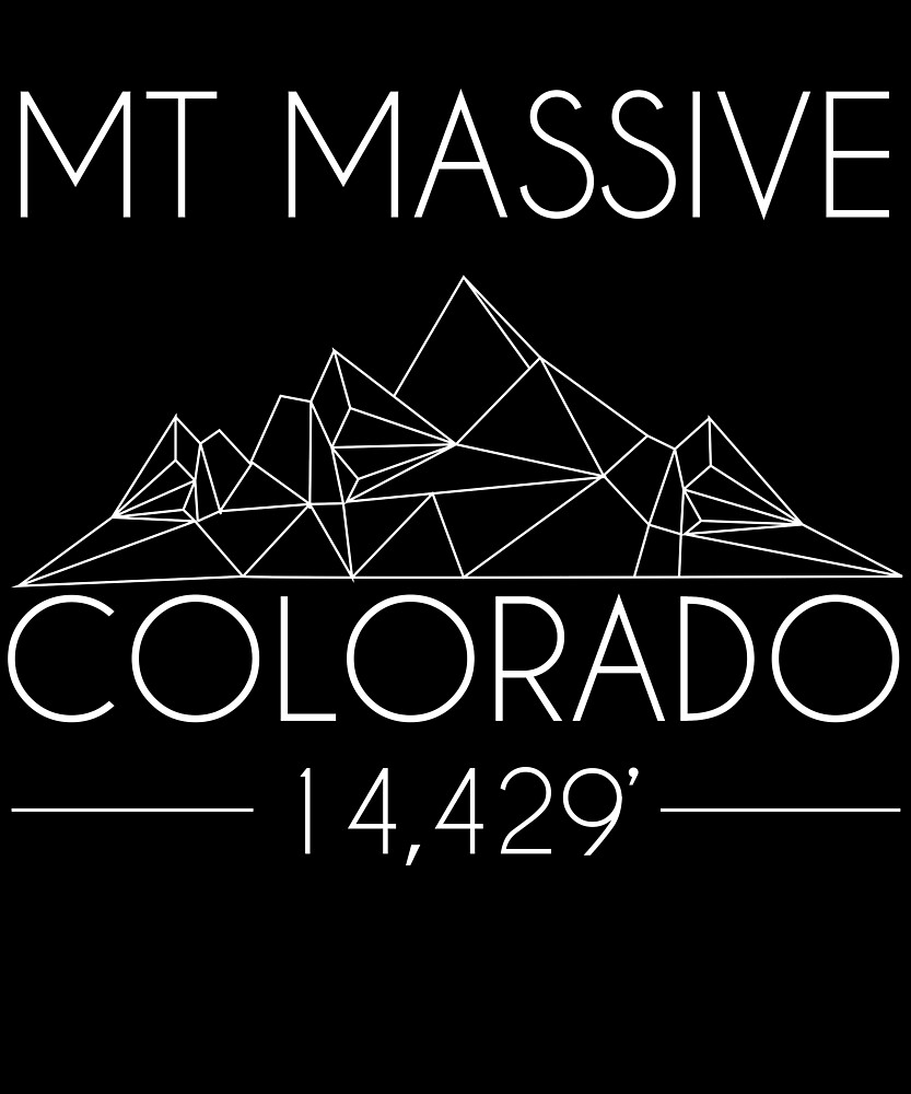Mount Massive Colorado Minimal Mountains Hiking Outdoors Love Heartbeat by hnwc