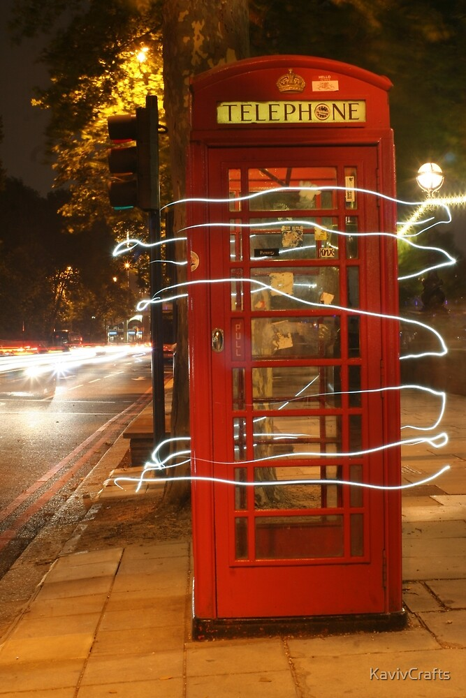 London Telephone Box Night light by KavivCrafts