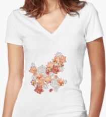oriental touch Women's Fitted V-Neck T-Shirt