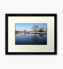 Calm River.. Framed Print
