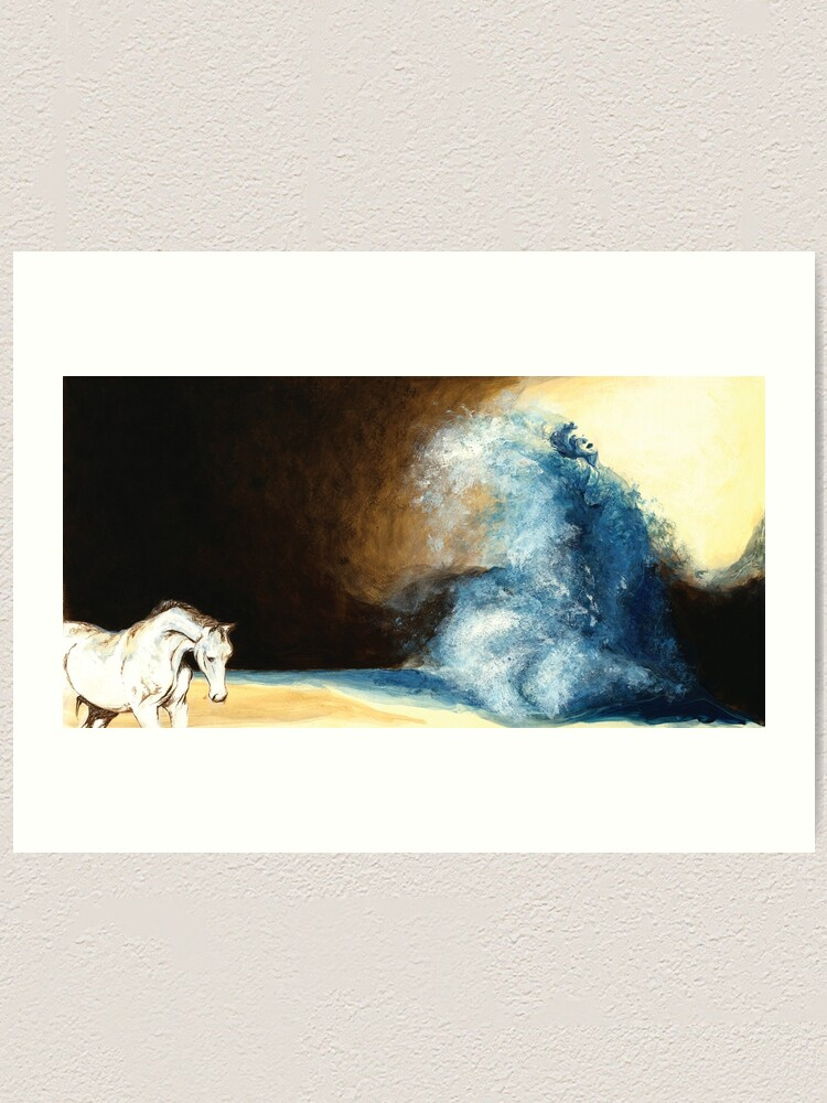 Alternate view of Children's book Wave Woman print Art Print