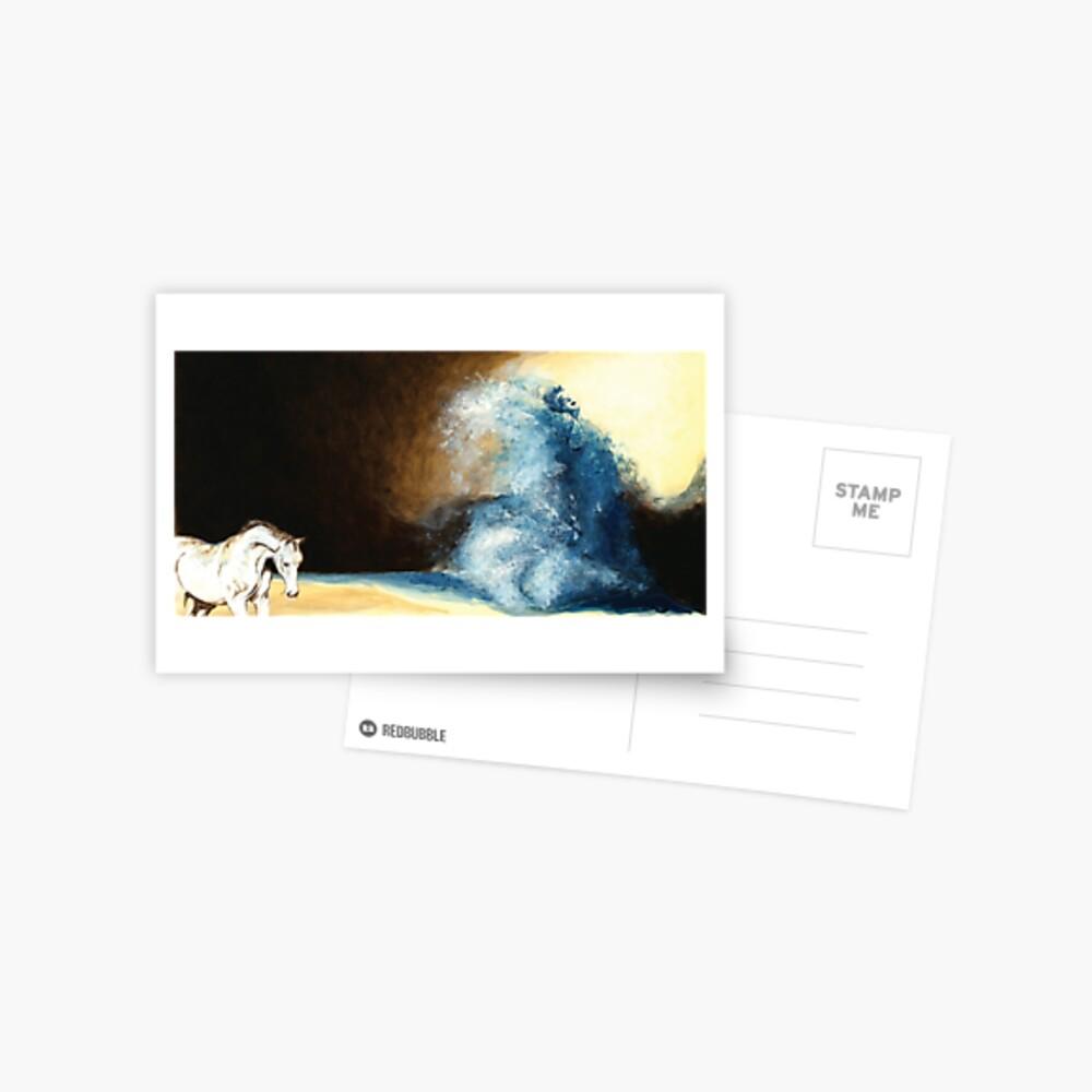Children's book Wave Woman print Postcard