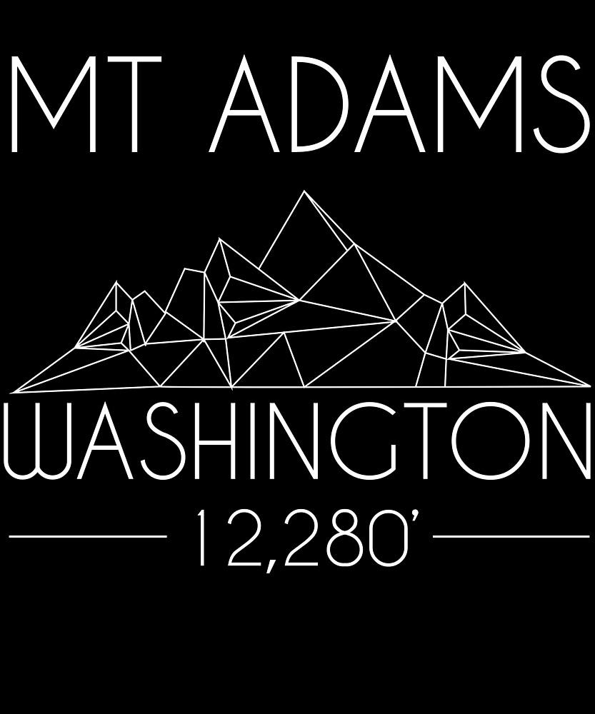 Mount Adams Washington Minimal Mountains Hiking Outdoors Love Heartbeat by hnwc