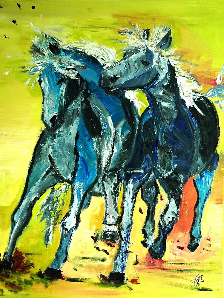 blue buddies by AstridS