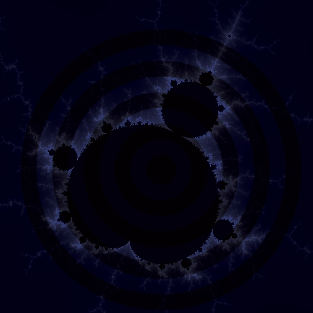 Fractal Light - Mandelbrot Blue Rings  by mandelbrotset