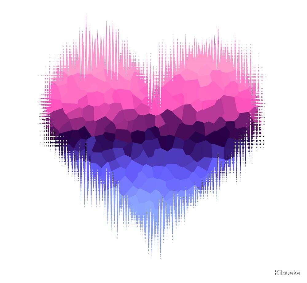 Omnisexual Omniromantic Glitch Heart by Kiloueka