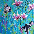 Magnolia & Birds by Mellissa Read-Devine