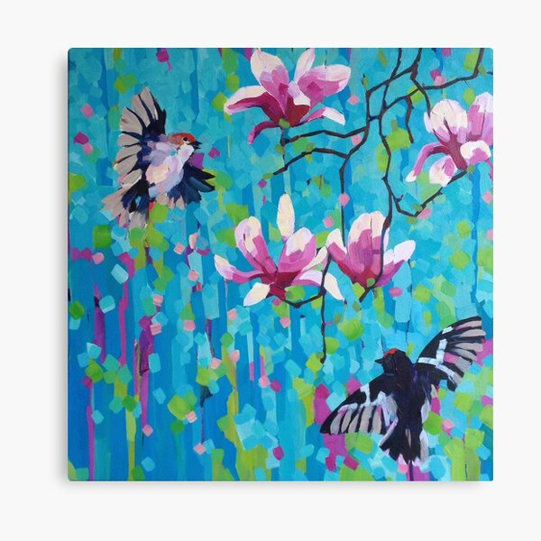 Magnolia & Birds Canvas Print