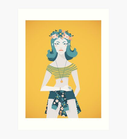 Flower Crown Art Print