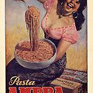 Vintage Pasta Poster Italy by mindydidit
