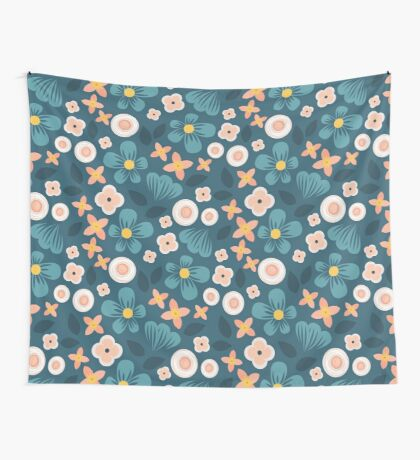 Modern Floral Wall Tapestry