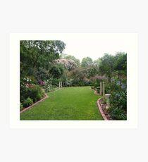 The magic of June's Garden Art Print