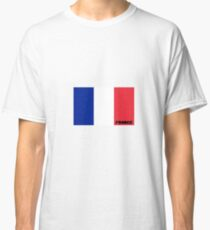 French Flag with Name Classic T-Shirt