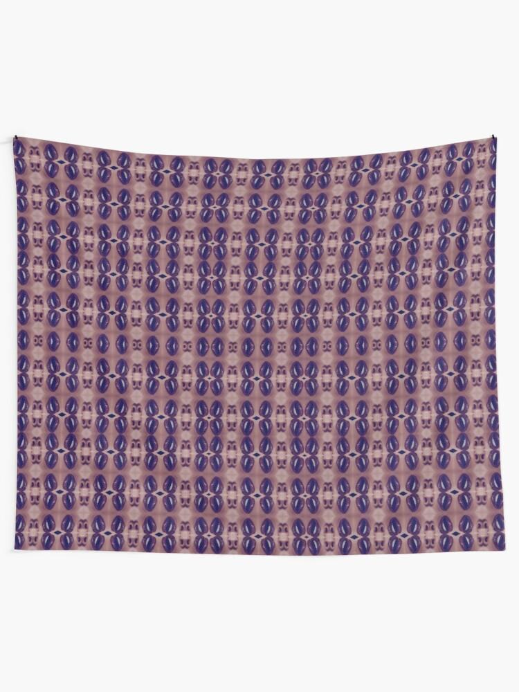 Alternate view of garish, flowery, flamboyant, florid, exuberant, colorific, ornate,  gorgeous Tapestry