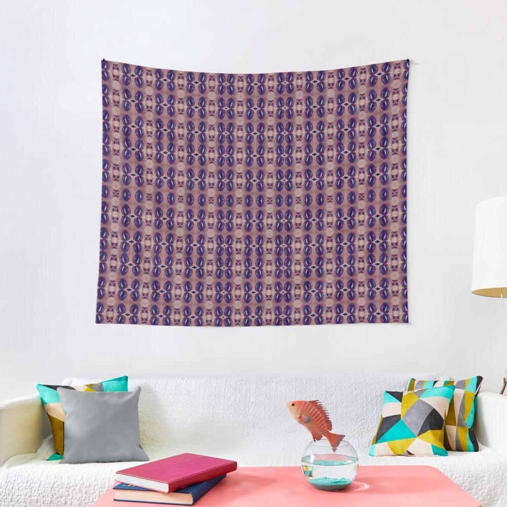 garish, flowery, flamboyant, florid, exuberant, colorific, ornate,  gorgeous Tapestry