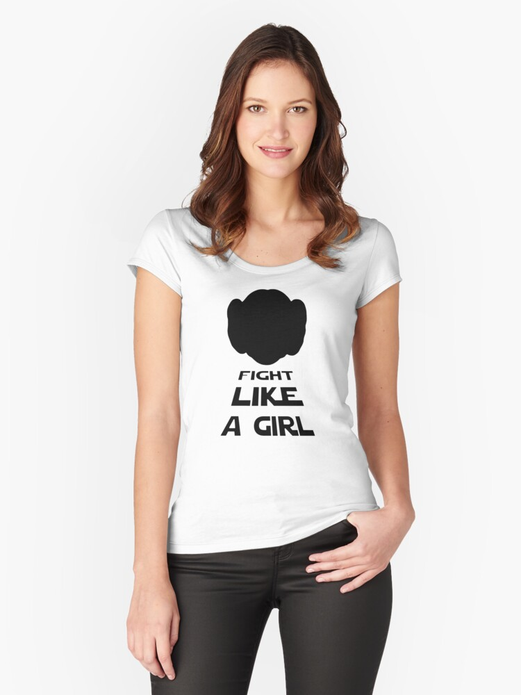 Fight Like A  Women's Fitted Scoop T-Shirt Front
