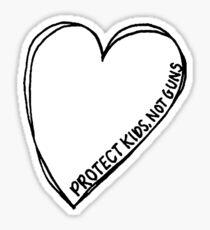 Protect Kids, Not Guns Heart Sticker