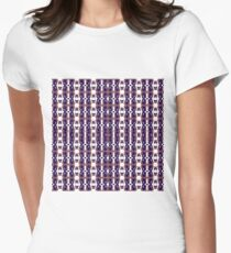 Optical illusion, visual phenomena, structure, framework, pattern, composition, frame, plenty Women's Fitted T-Shirt