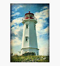 Louisbourg Lighthouse, Nova Scotia Photographic Print