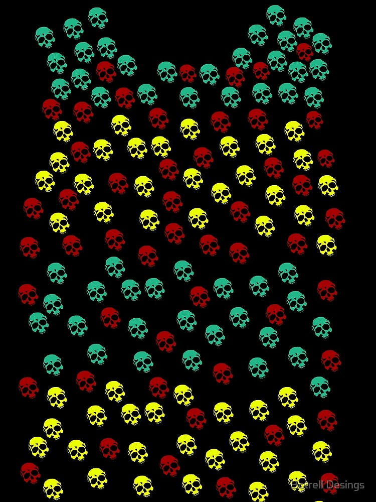 Colorfull Skull Pattern by KevinGC