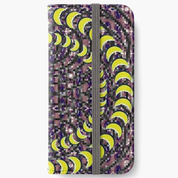 Exuberant, colorific, ornate,  gorgeous, vintage, prestigious, harmonious, harmonic, dubstep weed iPhone Wallet