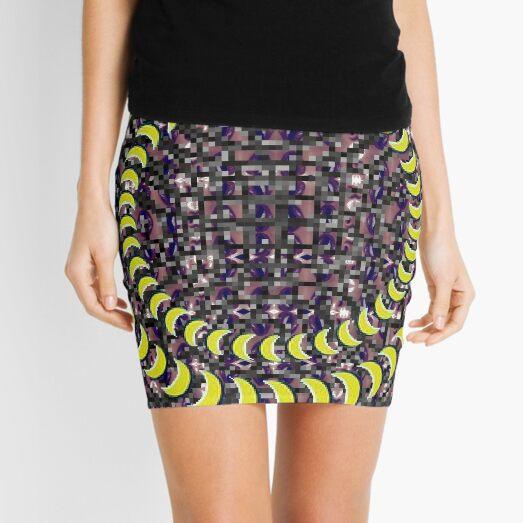 Exuberant, colorific, ornate,  gorgeous, vintage, prestigious, harmonious, harmonic, dubstep weed Mini Skirt