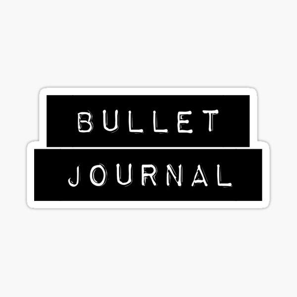 Etiqueta de Diario Bullet Pegatina