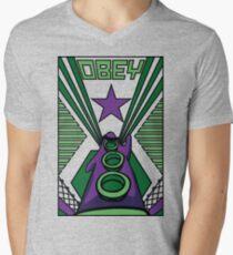 OBEY Purple Tentacle Men's V-Neck T-Shirt