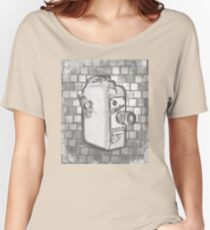 Citation 8mm Movie Camera in Vintage Black and White Women's Relaxed Fit T-Shirt