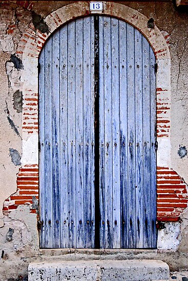 Blue door by Jeanne Horak-Druiff