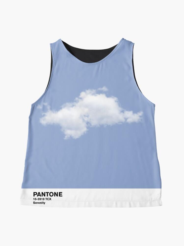 Vista alternativa de Blusa sin mangas Serenity Blue Pantone Cloud