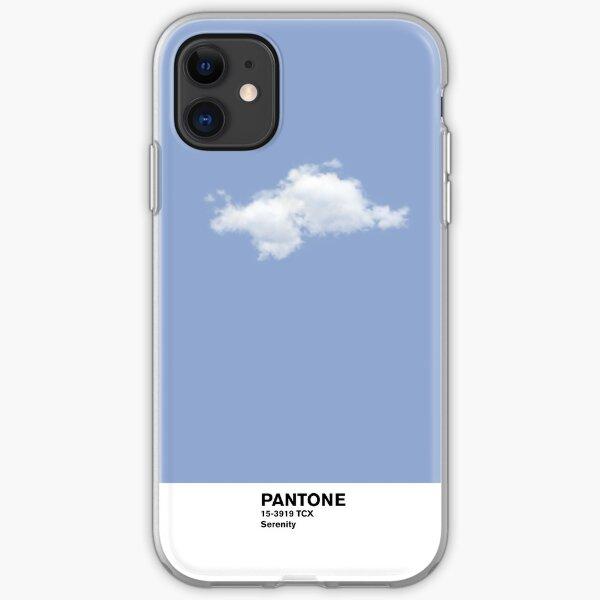 Serenity Blue Pantone Cloud Funda blanda para iPhone
