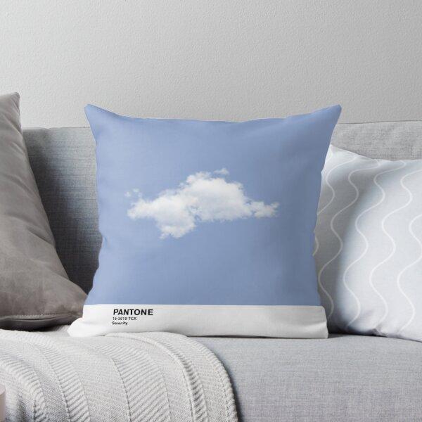 Serenity Blue Pantone Cloud Throw Pillow