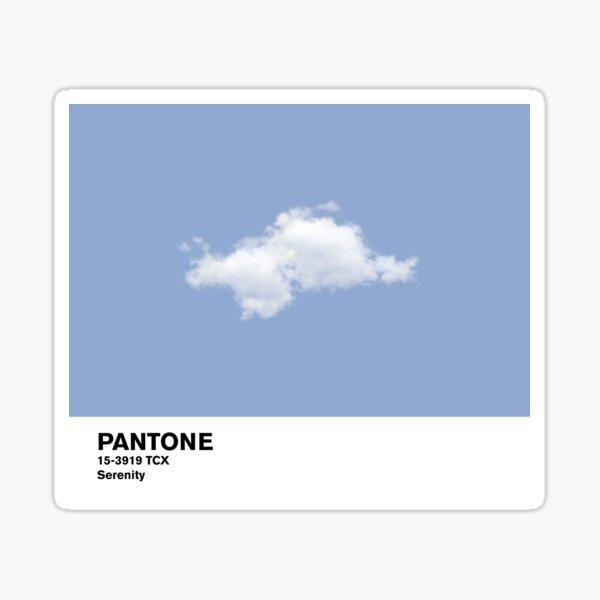Serenity Blue Pantone Cloud Sticker