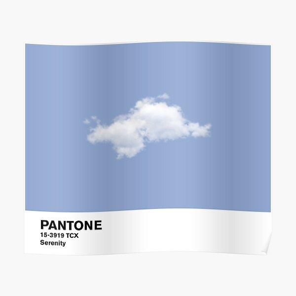 Serenity Blue Pantone Cloud Poster