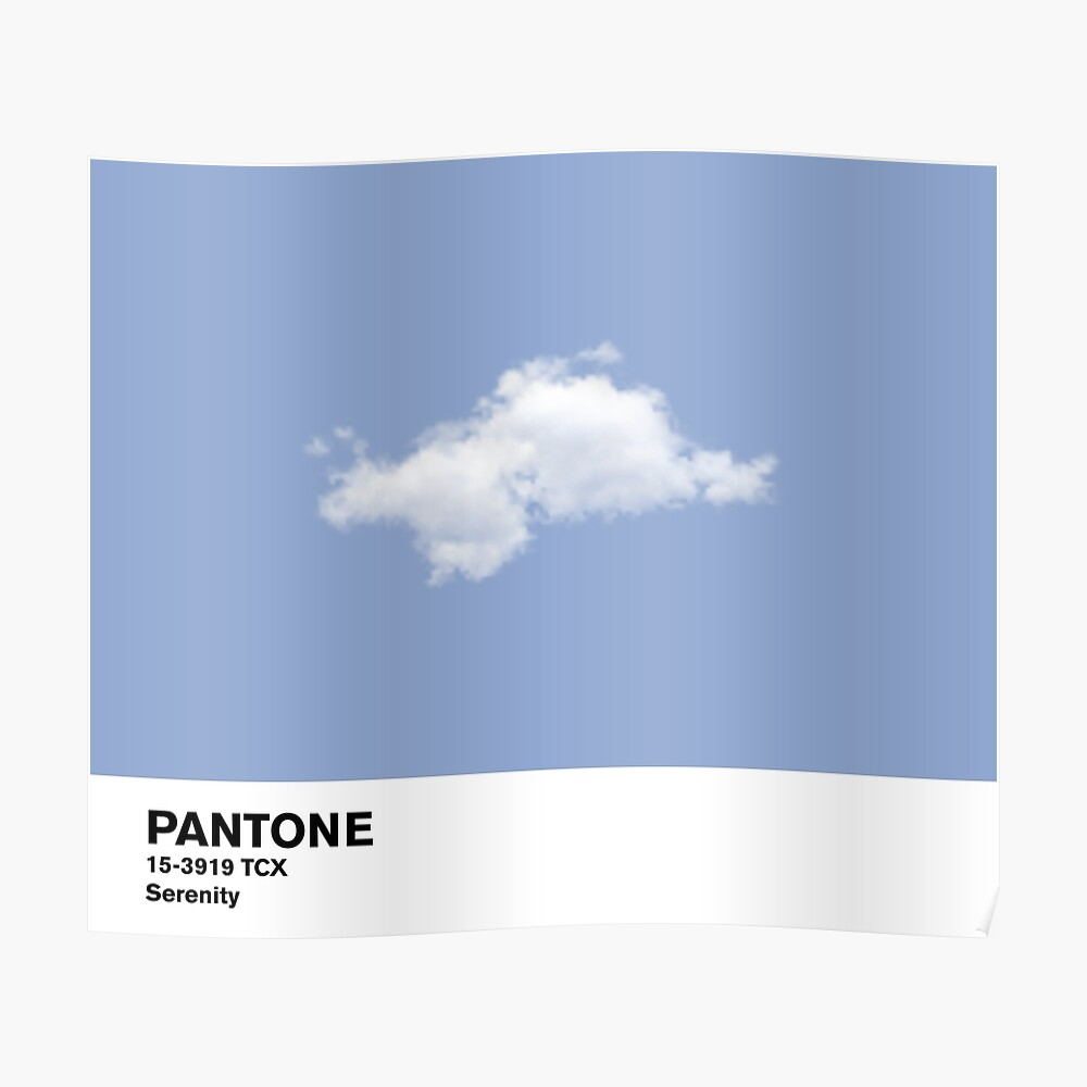 Serenity Blue Pantone Cloud Póster