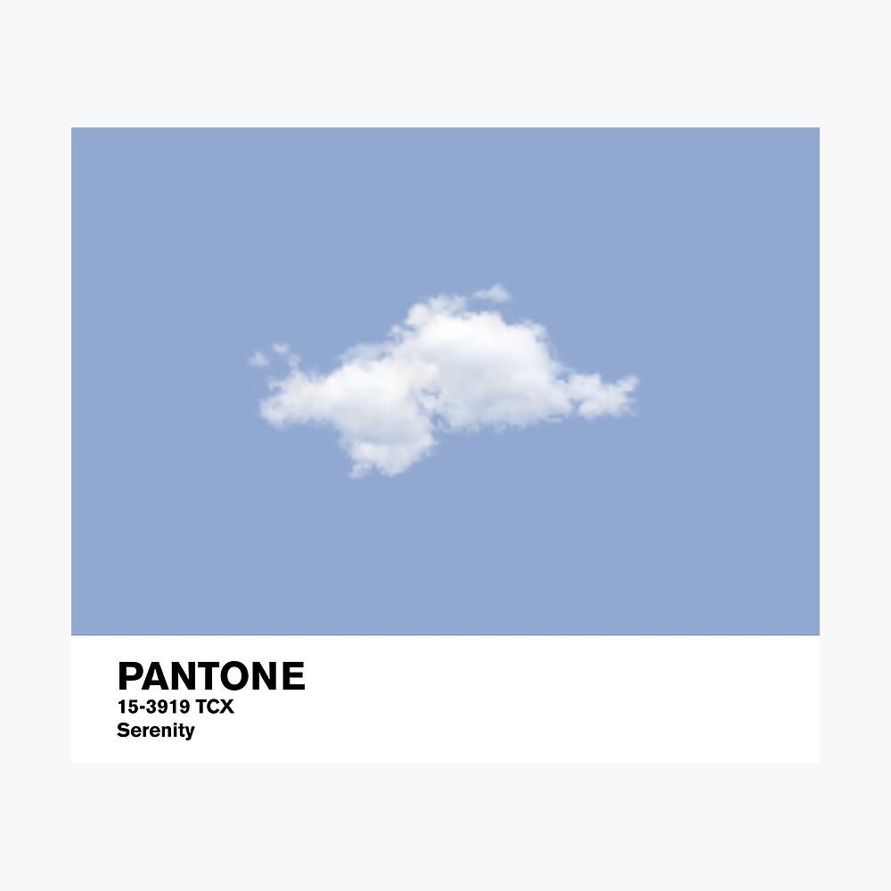 Serenity Blue Pantone Cloud Lámina fotográfica