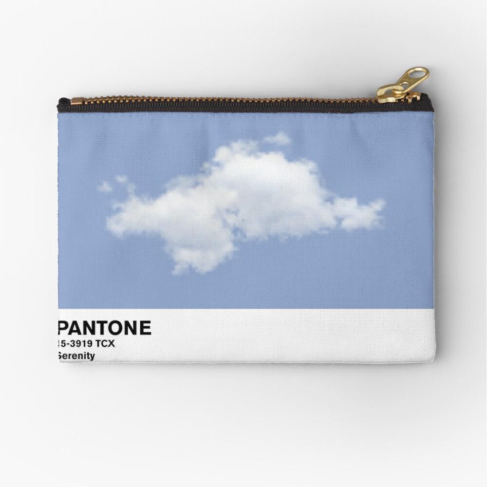 Serenity Blue Pantone Cloud Bolsos de mano