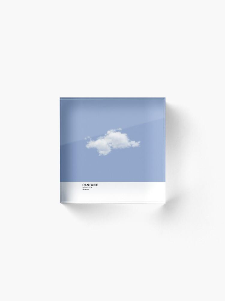 Vista alternativa de Bloque acrílico Serenity Blue Pantone Cloud