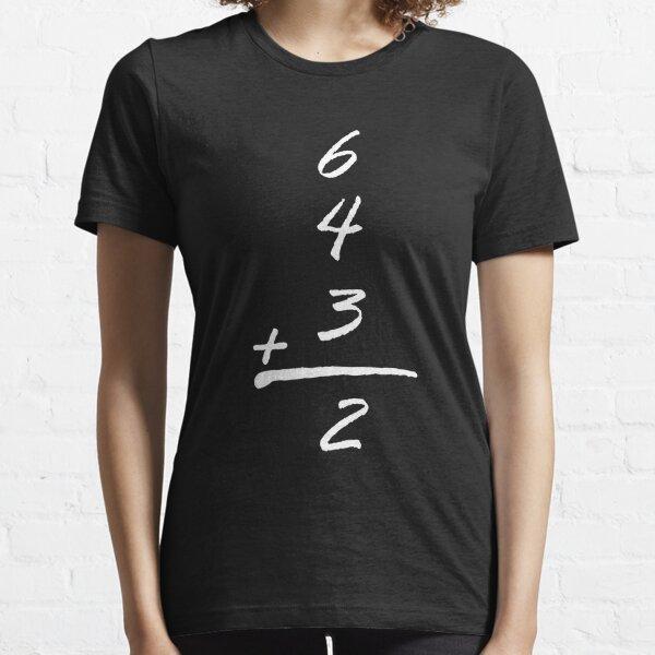 6 4 3 2 simple math baseball funny t-shirts  Essential T-Shirt