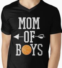 Mom Of Basketball Boys Gift For Basketball Mother Mom Basketball T-Shirt Sweater Hoodie Iphone Samsung Phone Case Coffee Mug Tablet Case Men's V-Neck T-Shirt