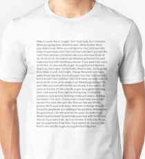 Lyrics to Big Time Rush Unisex T-Shirt