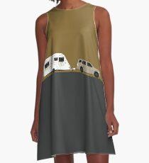 Caravan road trip   Gold A-Line Dress