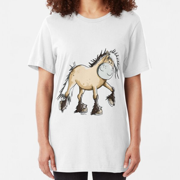 Funny Fjord Horse Slim Fit T-Shirt