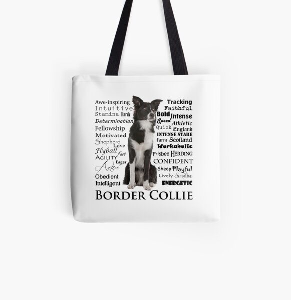 Border Collie Traits All Over Print Tote Bag