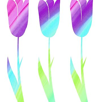 Spring Tulips Pattern by MelissaB
