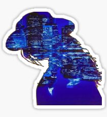 Lady Cityscape Sticker