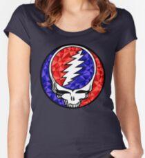 Grateful Dead Mosaic Skull Women's Fitted Scoop T-Shirt