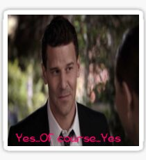 Seeley Booth Quote 8 Sticker